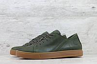 Мужские кроссовки / кеды в стиле Timberland, кожа, оливковые *** 40(26 см), размеры:40,41,42,43,44,45