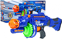 "Автомат бластер ""Blaze Storm"" с мягкими пулями 40шт. на батарейках scn"