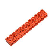 Клеммная винтовая колодка PP 6mm2, 6A оранжевая
