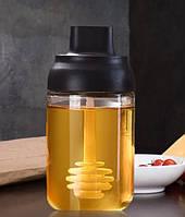 Емкость для меда с ложкой (Банка для хранения меда)