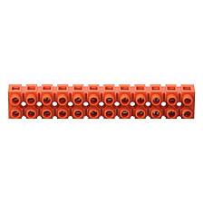 Клеммная винтовая колодка PP 10mm2, 10A оранжевая, фото 2