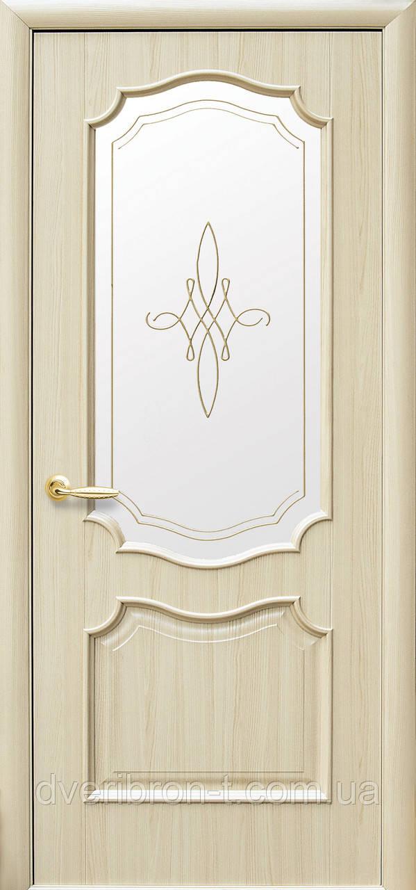 Двери Новый Стиль Рока +Р1 Gold ясень, коллекция Интера DeLuxe