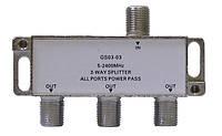 Делитель с пропуском питания Split GS 03-03 (три равноценных выхода, пропускает 5-2400 МГц)