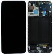 Дисплей (LCD) Samsung GH82-22860A A415 Galaxy A41 с сенсором чёрный сервисный