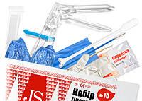 Набор гин.JS № 10 Стандарт с бахилами (пеленка,перчатки(M), бахилы,зерк.(S,M),шпатель