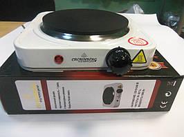 Електроплита 1 конфорка плита електрична настільна електропіч CROWNBERG CB-3743