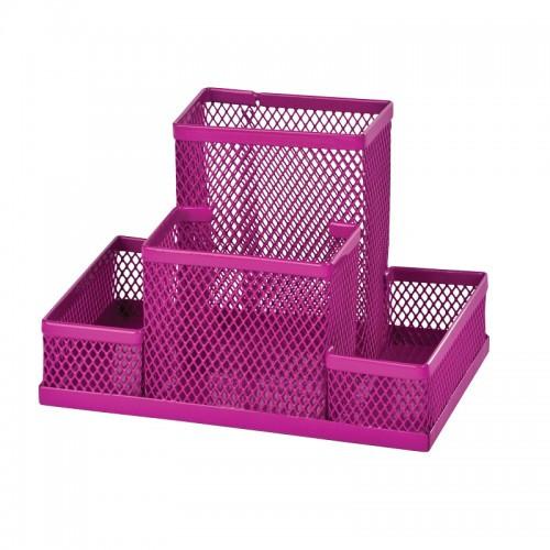 Прибор настольный ZiBi 3116-10 металлический 150х100х100мм розовый (1/12/48)