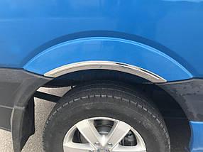 Накладки на арки (4 шт, нерж) Mercedes Sprinter 2006-2018 гг. / Хром накладки на арки Мерседес Бенц Спринтер