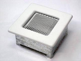 Вентиляционная решетка для камина KRATKI 11х11 см белая