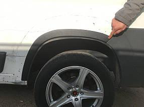 Накладки на арки (4 шт, черные) Citroen Jumper 2007↗ и 2014↗ гг. / Хром накладки на арки Ситроен Джампер