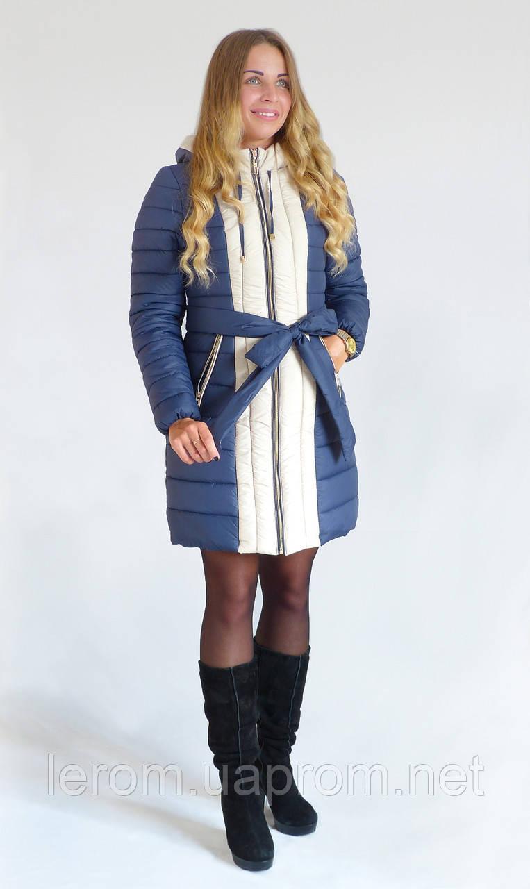 Зимняя куртка  Алёна К&ML синяя 42-52