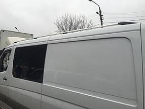 Mercedes Sprinter 2018↗ Рейлинги черный мат 340 см с пластиковой ножкой / Рейлинги Мерседес Бенц Спринтер
