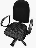 Чехол на сиденье офисного кресла черный экокожа 00825