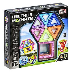 """Магнитный конструктор """"Цветные магниты"""" Play smart 14 деталей"""