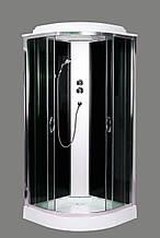 Гидромассажный бокс Aquastream GLS 90 Black Low / Аквастрим Гидромассажная кабина бокс