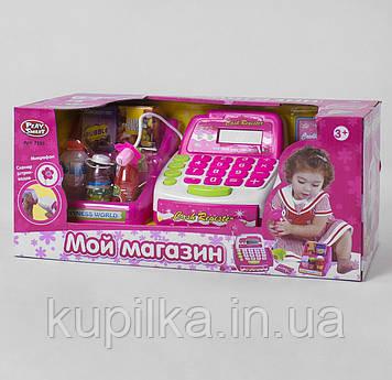 Детский игровой музыкальный Магазин кассовый аппарат 7255 с микрофоном и калькулятором