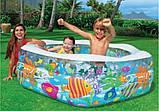 """Детский надувной бассейн Intex,191*178*61 см """"Океанский риф"""".Cемейный,большой, для дома, дачи, для детей 56493, фото 5"""