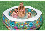 """Детский надувной бассейн Intex,191*178*61 см """"Океанский риф"""".Cемейный,большой, для дома, дачи, для детей 56493, фото 4"""