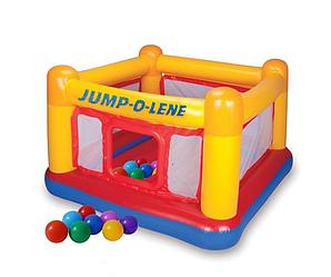 Надувной батут Intex  «Jump-O-Lene» , 174 х 174 х 112 см, с шариками 10 шт  (48260-1)