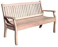 Скамейка садовая из сосны с подлокотниками