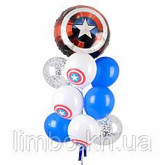 Шары на день рождения сыну и щит капитана Америки