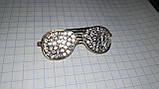 Значок брошь брошка металл отличное качество очки золотистые камни, фото 8