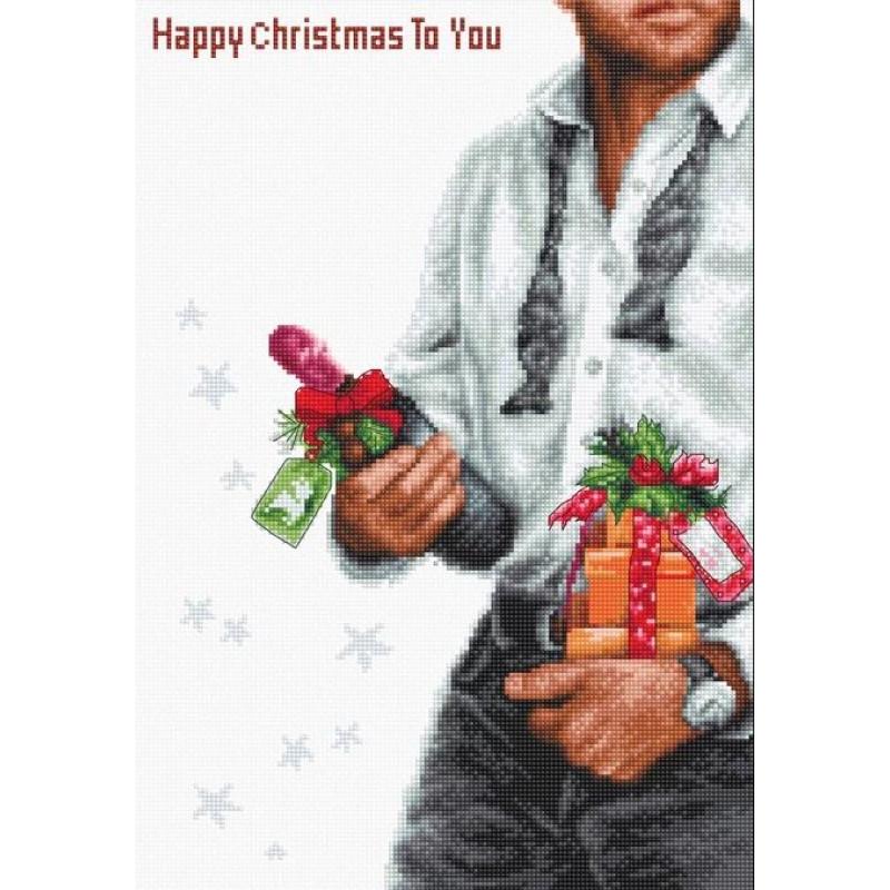 Наборы для вышивания крестом Luca S Счастливое Рождество.