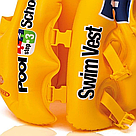 """Детский Надувной жилет """"Pool School"""" Intex (Желтый)   , фото 3"""