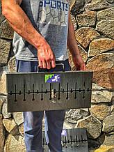 Мангал-чемодан переносной компактный на 6 шампуров складной