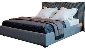 Кровать двуспальная Меланж MW1600 с подъёмным механизмом, мягким изголовьем и нишей для белья TM Embawood