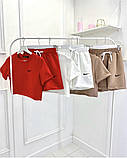 Женский костюм Nike: топ и шорты, красный, сиреневый, желтый, ментол, кемел, белый, фото 4