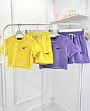 Женский костюм Nike: топ и шорты, красный, сиреневый, желтый, ментол, кемел, белый, фото 5