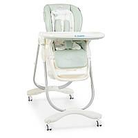 Раскладной стульчик для кормления «DOLCE» M 3236 AQUAK бирюзовый для мальчика или девочки
