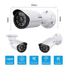 Система відеоспостереження H. VIEW 8CH CCTV 2 MP. 1080P NEW реєстратор 8-ми канальний, фото 3