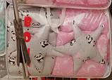 """Комплект """"Elite"""" в детскую кроватку, нежно-розовый с пандочками, фото 2"""