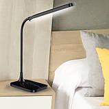 Світильник настільний 6W чорний зі зміною кольору світла світлодіодний Feron, фото 4
