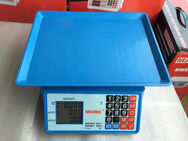 Весы торговые Matrix A-3 (40 кг) в Украине
