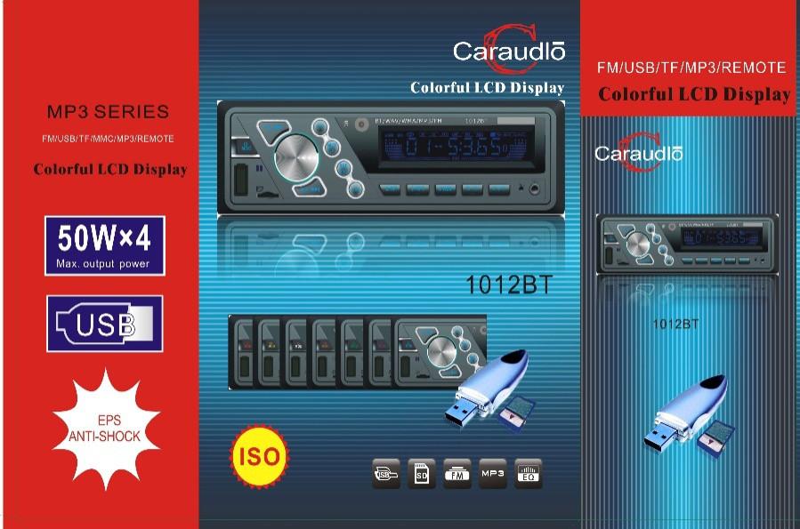Автомагнитола 1012BT 50W*4 с bluetooth/MP3/SD/USB/AUX