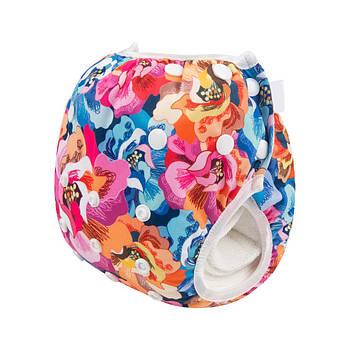 Многоразовые трусики для плавания от рождения Berni Цветы 3-10 кг Разноцветные (54475)