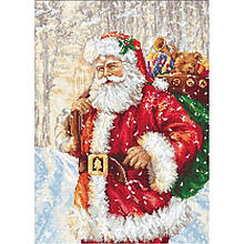 Наборы для вышивания крестом Luca S Дед мороз.Новый год