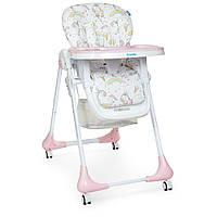 Раскладной стульчик для кормления «DOLCE» M 3236 SWEET PINK розовый для девочки