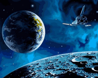 Картина за номерами Babylon На Місяць і назад 40*50 см арт.VP741