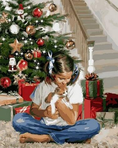 Картина за номерами Babylon Різдвяний подарунок 40*50 см арт.VP785, фото 2