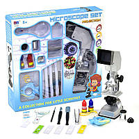 """Детский игрушечный микроскоп """"Microscope Set"""" 20 деталей CHN AOHUA (3106А)"""