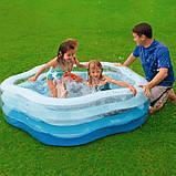 """Детский надувной бассейн Intex,185*180*53 см """"Морская звезда""""с надувным дном.Большой, дачи, для детей 56495, фото 9"""