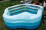 """Детский надувной бассейн Intex,185*180*53 см """"Морская звезда""""с надувным дном.Большой, дачи, для детей 56495, фото 8"""