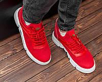 Летние мужские кроссовки Lacoste красные (лакост, реплика) 40, фото 1