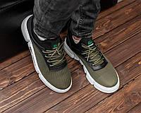 Летние мужские кроссовки Lacoste хаки (лакост, реплика), фото 1