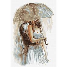 Наборы для вышивания крестом Luca S Под зонтом