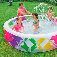 Детский надувной бассейн Intex 56494 «Колесо»,229х56 см,надувное дно, фото 1